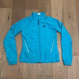Adidas Blue Windbreaker Jacket Running Active Sz 6